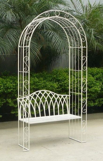 Pagoda Turin Garden Bench With Arch